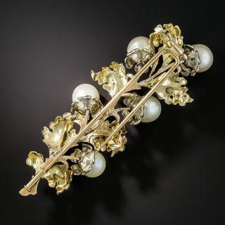 Buccellati Pearl Leaf Brooch