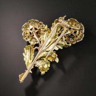 Buccellati Ruby and Diamond Flower Brooch