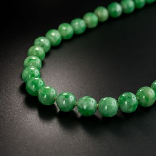 Burmese Jade Bead 22 1/2 Inch Strand