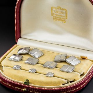 Cartier Art Deco Platinum Diamond Dress Set
