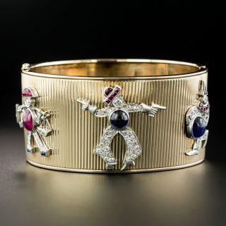 'Charming' Retro Bangle Bracelet - 2