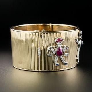 'Charming' Retro Bangle Bracelet