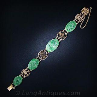 Chinese Carved Jade Bracelet