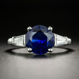 Classic 2.25 Carat Sapphire and Diamond Ring - 2
