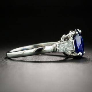 Classic 2.25 Carat Sapphire and Diamond Ring