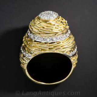 Diamond Cocktail Ring - 1