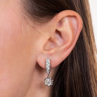 Diamond Drop Earrings - GIA