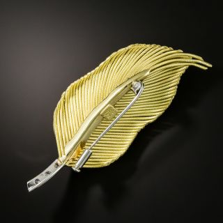 Diamond Feather Brooch by Coroletto of Italy