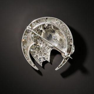 Diamond Horse Head Brooch