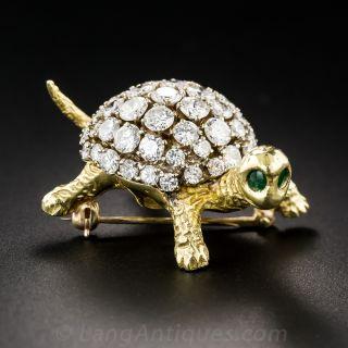 Diamond Turtle Pin