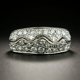 Diamond Wave Band Ring - 2