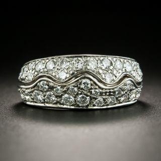 Diamond Wave Band Ring - 2