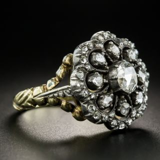 Dutch Georgian Style Rose-Cut Diamond Cluster Ring