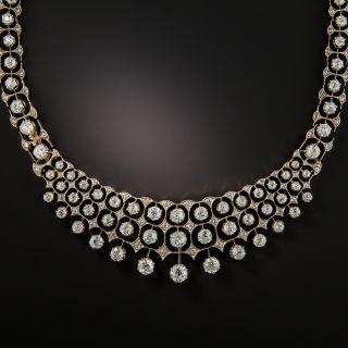 Early 20th Century 17.15 Carat Diamond Bib Necklace - 2