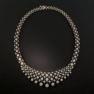 Early 20th Century 17.15 Carat Diamond Bib Necklace
