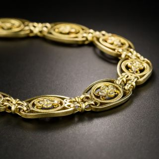 Early 20th Century French Floral Motif Bracelet