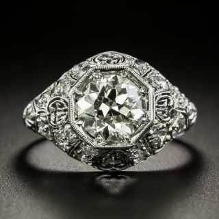Early Art Deco 1.83 Carat Diamond Engagement Ring - GIA N SI2 - 1