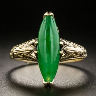 Early Mid-Century Natural Burmese Jade Ring - 2