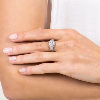 Edwardian 1.11 Carat Diamond Platinum Engagement Ring - GIA D VS2