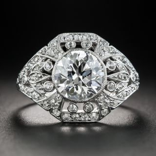 Edwardian 2.02 Carat Diamond Ring - GIA D Internally Flawless - 1