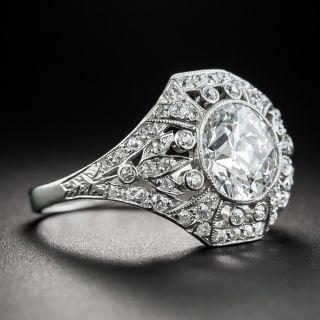 Edwardian 2.02 Carat Diamond Ring - GIA D Internally Flawless