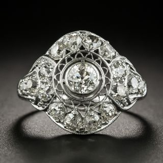 Edwardian .40 Carat Diamond Engagement Ring - 2