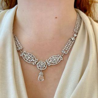 Edwardian 5.07 Carat Briolette Diamond Necklace - GIA E SI2