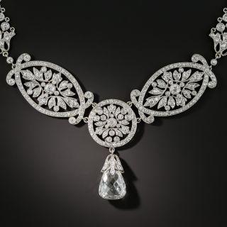 Edwardian 5.07 Carat Briolette Diamond Necklace - GIA E SI2 - 1