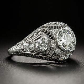 Edwardian/Art Deco .70 Carat Platinum Diamond Engagement Ring