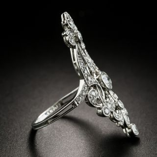 Edwardian Bow Motif Diamond Dinner Ring