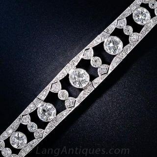 Edwardian Diamond and Platinum Bracelet - 1