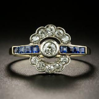 Edwardian Diamond and Sapphire Ring - 3