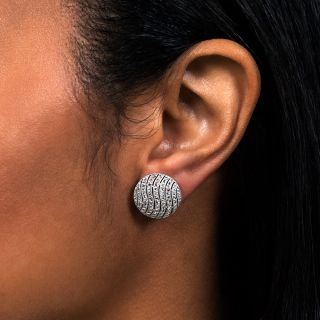 Edwardian Diamond Circle Stud Earrings
