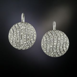 Edwardian Diamond Circle Earrings - 3