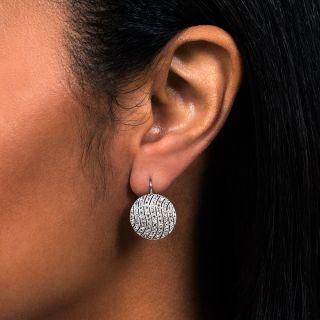 Edwardian Diamond Circle Earrings