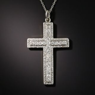 Edwardian  Diamond Cross Necklace, Circa 1910 - 2