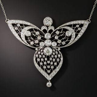 Edwardian Diamond Filigree Necklace - 2