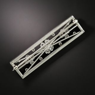 Edwardian Diamond Floral Motif Pin