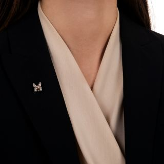 Edwardian Diamond Fox Head Stick Pin