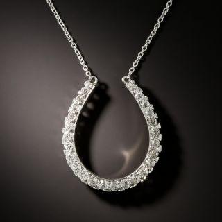 Edwardian Diamond Horseshoe Pendant - 2