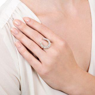 Edwardian Diamond Horseshoe Ring