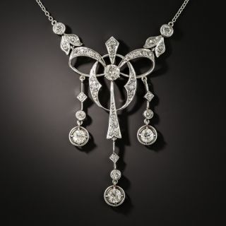 Edwardian Diamond Lavalière Necklace - 2