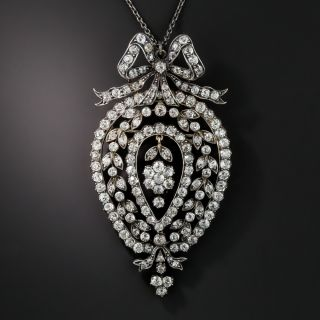 Edwardian Diamond Pendant/Brooch  - 1