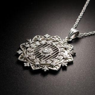 Edwardian Diamond Pendant By Patek Philippe