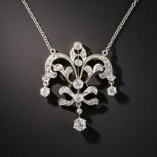 Edwardian Diamond Pendant Necklace - 1
