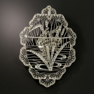 Edwardian Diamond Platinum Frog Brooch/Pendant