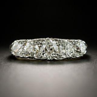 Edwardian Five-Stone Diamond Carved Ring - 2