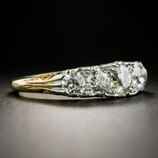 Edwardian Five-Stone Diamond Carved Ring
