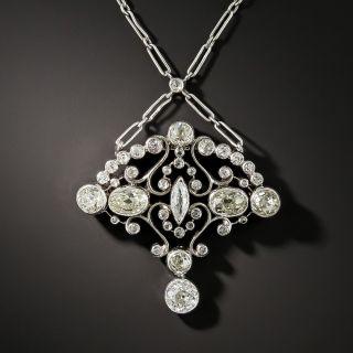 Edwardian Mixed Cut Diamond Pendant - 2