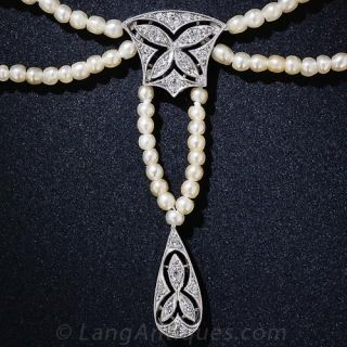 Edwardian Natural Pearl Necklace - 1